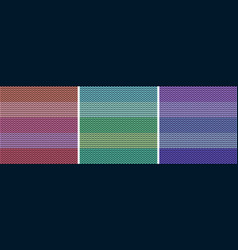 striped colorful light fabric texture set knitted vector image