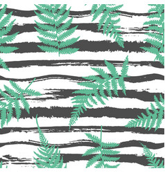 striped fern seamless background vector image