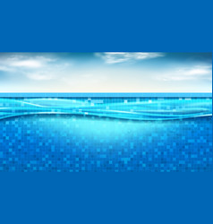 summer banner with swimming pool vector image