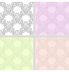 Summer pastel seamless pattern set vector