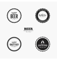 Sweet Beer Labels vector image
