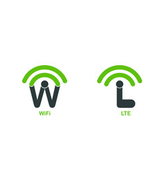 Template logo for wifi and lte wireless internet vector