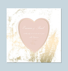 Trendy pink gold cards vector
