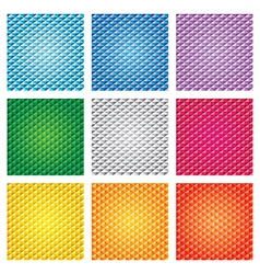 Triangle pattern set vector