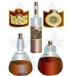 Unusual shape of bottles vector image