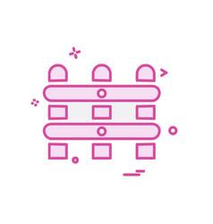 Wall boundary icon design vector
