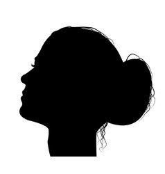 woman profile with hair in a bun vector image