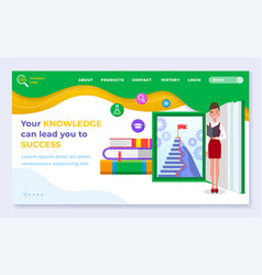your knowledge kan lead you to success vector image