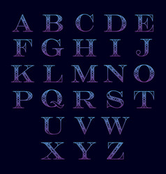 alphabet with ornament vector image vector image