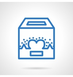Charity fundraiser blue line icon vector
