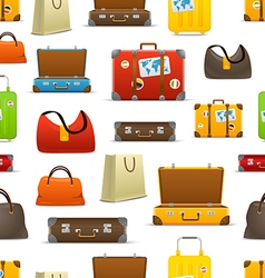 Different color travel bags collection seamless vector