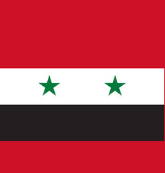 flag in colors of syria image vector image vector image