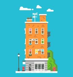 Flat design european colorful apartment vector image vector image