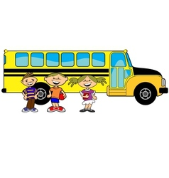 kids bus vector image