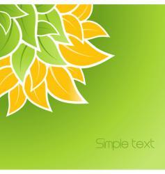 leaves corner design vector image