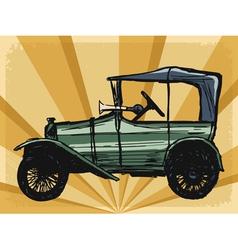 vintage background with retro car vector image vector image