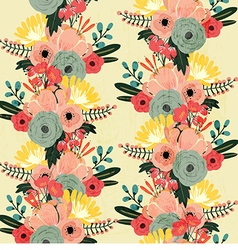 Flower seamless pattern vintage style vector image vector image