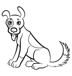 Funny dog contour vector