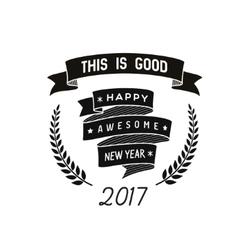Happy new year badge vector