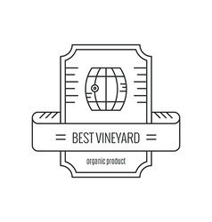 Hipster Wine Logo vector image vector image