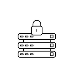 locked data connection icon vector image vector image