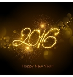 New Year 2016 fireworks vector image vector image