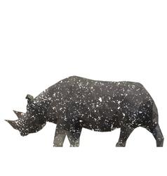 rhino stylized triangle polygonal model vector image vector image