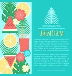 Summer letterhead template in flat style vector