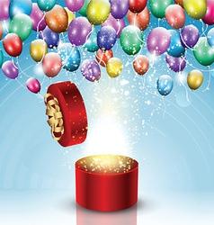 Balloon celebration background vector image vector image