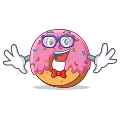 geek donut character cartoon style vector image