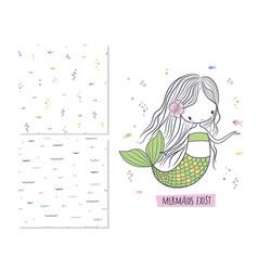 mermaids exist surface design vector image