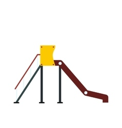 Playground slide icon vector image vector image