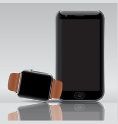smart electronic intelligence watch phone vector image