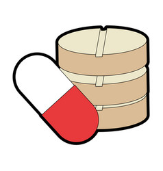 capsules and pills medicine isolated icon vector image