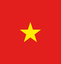 flag of socialist republic of vietnam vector image