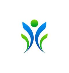 leader people winner sport logo vector image vector image