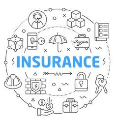 linear insurance vector image