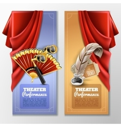 Theatre And Stage Banners Set vector image