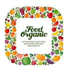 vegetables and fruits background modern vector image