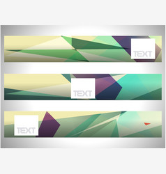 abstract set triangle art shine background eps10 vector image
