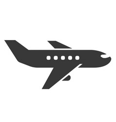 airplane black icon commercial transportation for vector image