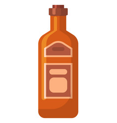 alcohol beverage in bottle celebration vector image
