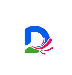 alphabet icon - d vector image