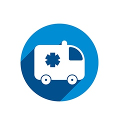 Ambulance car icon isolated vector