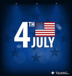 American Flag card for Independence Day vector image