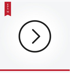 arrow right icon in modern style for web site and vector image