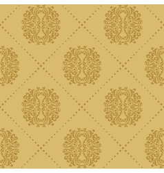 Baroque vintage seamless background vector