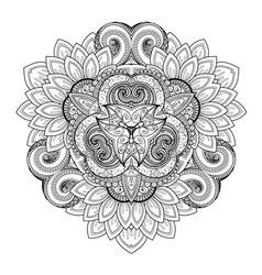 Beautiful Deco Monochrome Triangle vector image