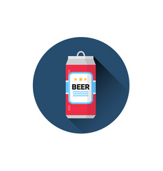 Beer can icon oktoberfest festival holiday concept vector