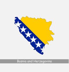 bosnia and herzegovina map flag vector image